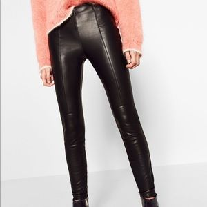 ZARA/ leather leggings